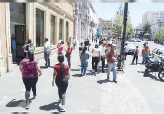El Centro Histórico repleto de gente.