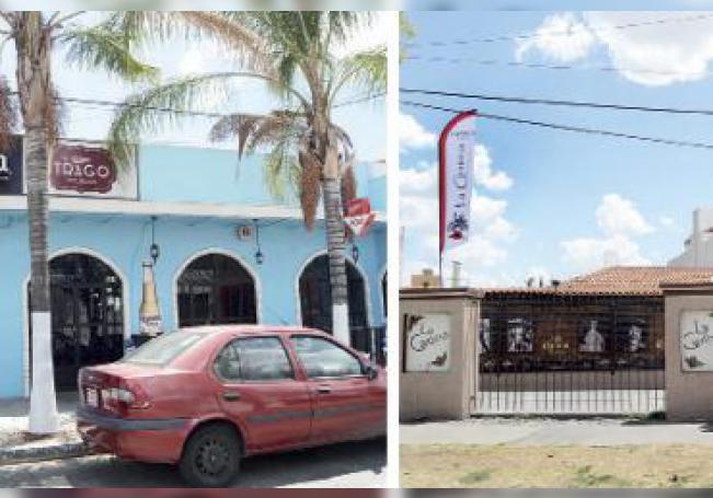 Dos de los cuatro bares cerrados por Regulación Sanitaria por presentar irregularidades en su funcionamiento, con las que se comprometía la salud de la población.
