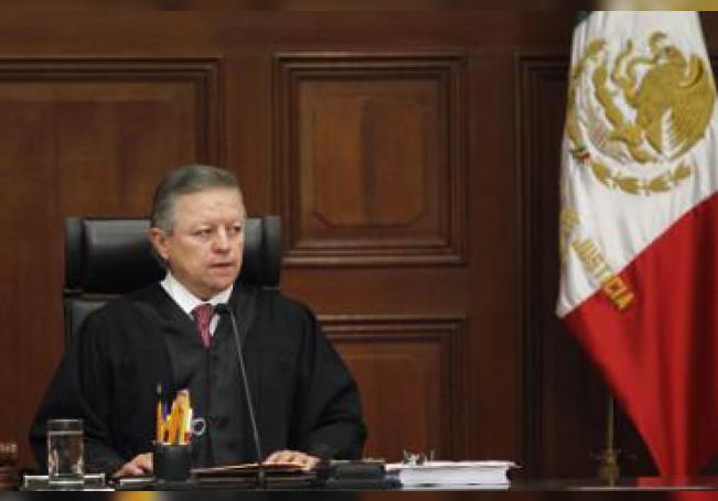 El magistrado Arturo Zaldívar durante su nombramiento como presidente de la Suprema Corte de Justicia de la Nación (SCJN) hoy, en Ciudad de México (México).