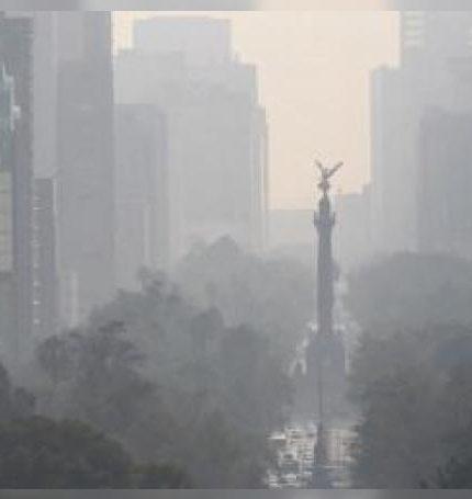 Vista del velo de contaminación presente en la Ciudad de México.