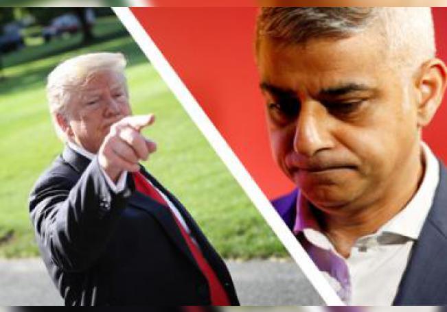 Donald Trump llamó perdedor al acalde de Londres, Sadiq Khan.