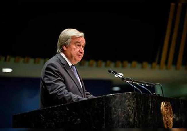 Fotografía cedida por la ONU donde aparece su secretario general, António Guterres.