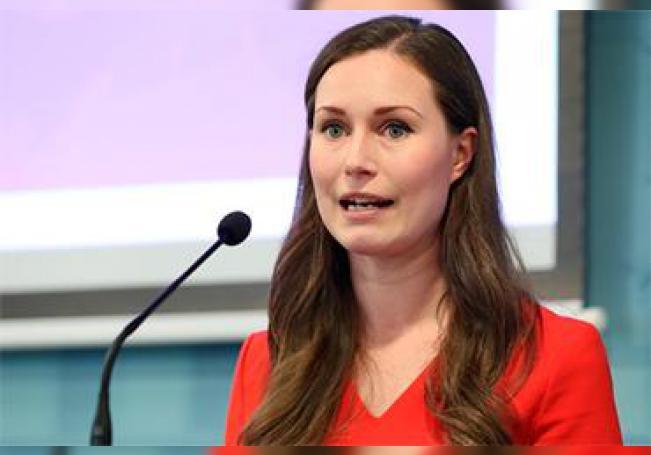 La ministra de trabajo de Finlandia, Sanna Marin.