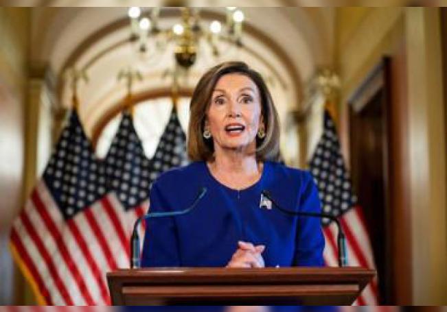 La presidenta de la Cámara de Representantes de EE.UU., Nancy Pelosi