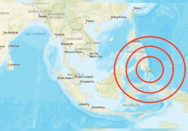 El epicentro del movimiento telúrico se situó a 15,3 kilómetros de profundidad y a unos 60 kilómetros al suroeste de la ciudad de Davao, la ciudad más grande de Mindanao.