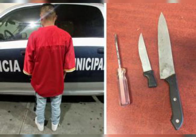 El joven fue detenido luego de tomar un breve descanso de su ardua labor como delincuente.