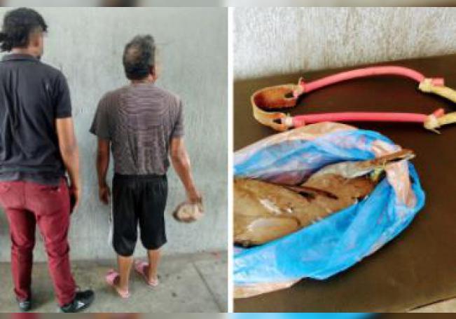 Padre e hijo fueron sorprendidos por elementos de la Policía Municipal y ahora tendrán que responder ante PROESPA por sus actos.
