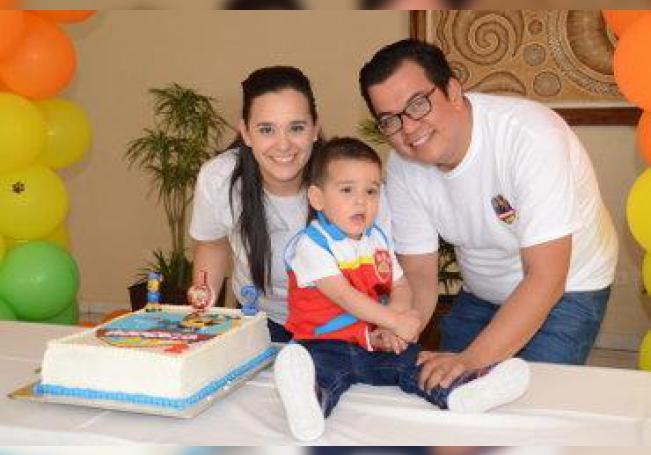 Celebró en grande su cumpleaños número dos, el pequeño Rorigo Ruiz Saucedo.