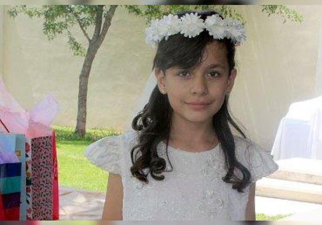 Comulgó por primera vez, Lizeth Guadalupe Puentes de Luna.