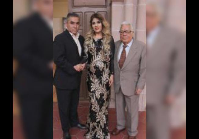 Sergio, Olivia y Chebo.