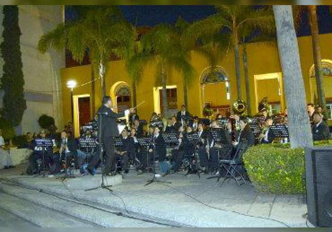 Gran espectáculo dieron los integrantes de la Banda Sinfónica Municipal.