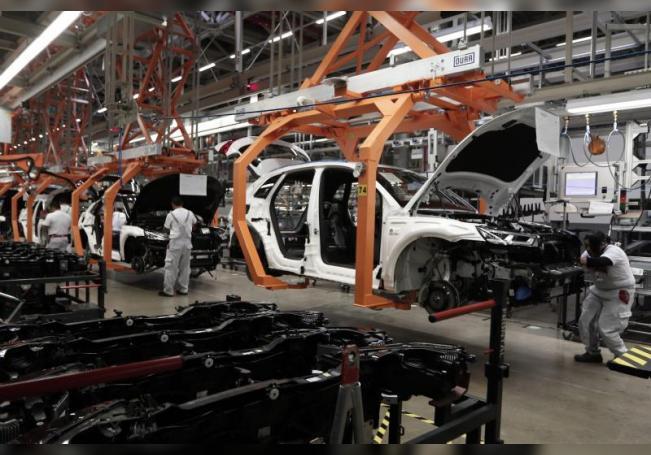 Aspecto de la planta automotriz alemana Audi en el municipio de San José Chiapa, en el estado mexicano de Puebla. EFE/Archivo
