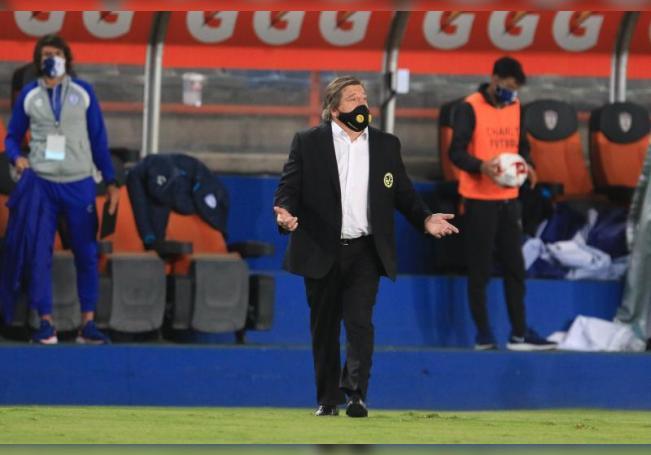 El entrenador de América, Miguel Herrera. EFE/ David Martínez Pelcastre/Archivo