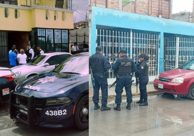 La primera tragedia se reportó en la calle Las Flores de la comunidad de Margaritas, la segunda en Ojocaliente III