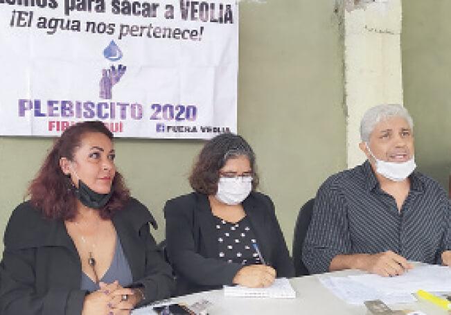 Solicitarán al IEE que convoque a los habitantes de la capital a un plebiscito para que, mediante una votación, se decida si VEOLIA se va o se queda.