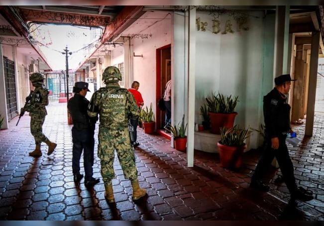 Integrantes de las fuerzas de seguridad del estado de Guerrero (México). EFE/David Guzmán/Archivo