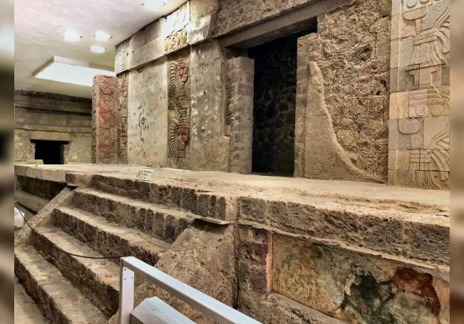 Fotografía cedida este lunes por el Instituto Nacional de Antropología e Historia (INAH) que muestra un mural en Teotihuacán, estado de México (México). EFE/ INHA SÓLO USO EDITORIAL/NO VENTAS