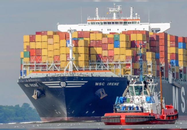 Fotografía cedida por la Secretaría de Agricultura y Desarrollo Rural, hoy lunes que muestra un Barco con Contenedores en el Mar Mexicano. EFE/Sader/SOLO USO EDITORIAL