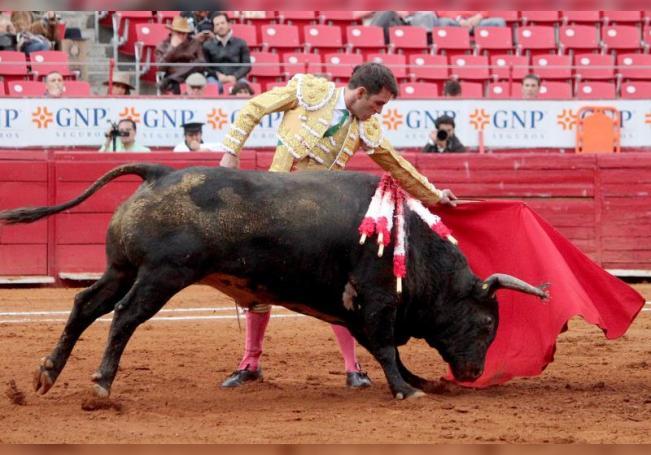 """Fotografía de archivo fechada el 26 de enero de 2020, del torero mexicano Arturo Macías """"El Cejas"""" durante una corrida en la Plaza de toros México (México). EFE/ Tadeo Alcina/Archivo"""