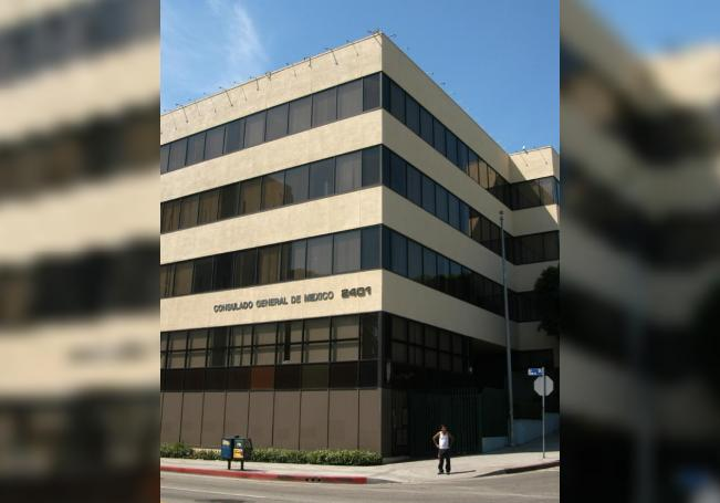 Aspecto del consulado mexicano en Los Ángeles, California (EEUU). EFE/Adrián Sánchez-González/Archivo