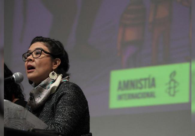 La directora ejecutiva de Amnistía Internacional México, Tania Reneaum Panszi. EFE/ Archivo