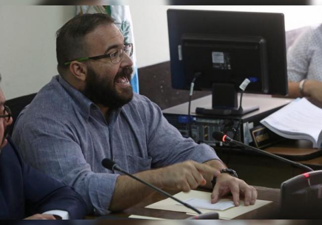Javier Duarte, exgobernador del estado mexicano de Veracruz, habla el martes 4 de julio de 2017, durante una audiencia en la Torre de Tribunales, en Ciudad de Guatemala (Guatemala). EFE/Esteban Biba/Archivo