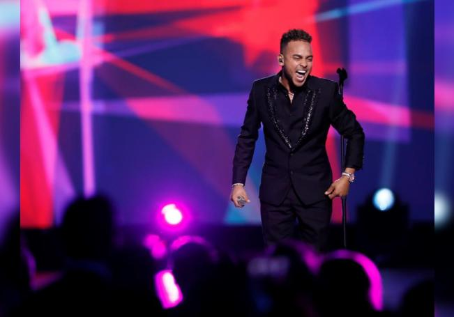 Puerto Rican singer Ozuna performs during the 2019 Latin Recording Academy Person of the Year gala at the MGM Grand Conference Center in Las Vegas, Nevada, USA. EFE/EPA/Etienne Laurent/File