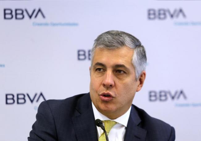 El economista jefe de BBVA México, Carlos Serrano, durante una conferencia, en la Ciudad de México (México). EFE/ Mario Guzmán/Archivo
