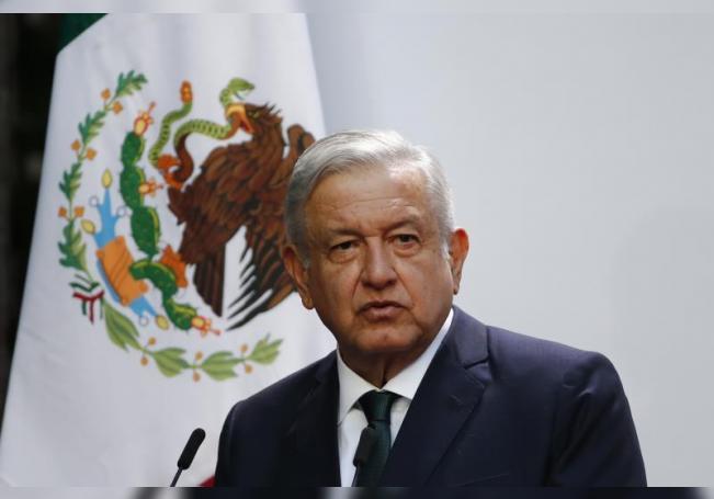 El presidente de México, Andrés Manuel López Obrador en el Palacio Nacional de Ciudad de México (México). EFE/ Archivo
