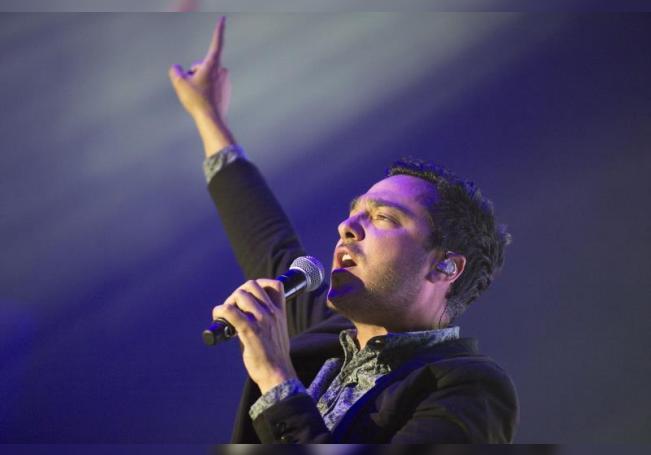 Rodrigo Dávila Chapoy del grupo mexicano de música de Rock pop , Motel.EFE/Fotografía Fernando Aceves/OCESA/SOLO USO EDITORIAL