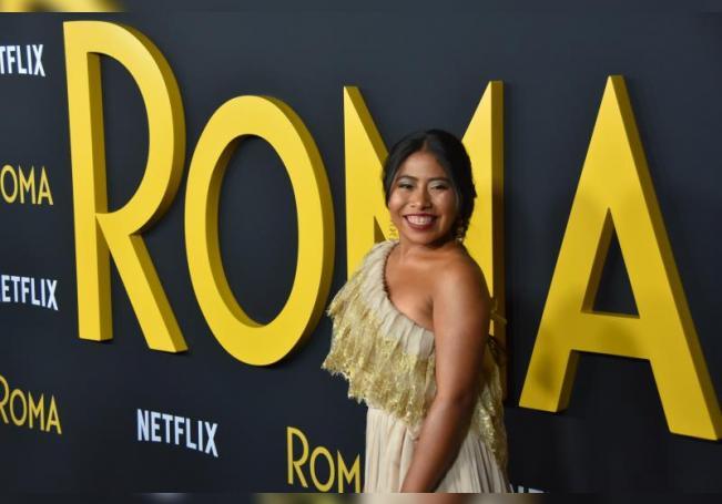 """La actriz Yalitza Aparicio participa en el lanzamiento de la película """"Roma"""", en el Teatro Egipcio de Hollywood (EE.UU.). EFE/ Iván Mejía/Archivo"""