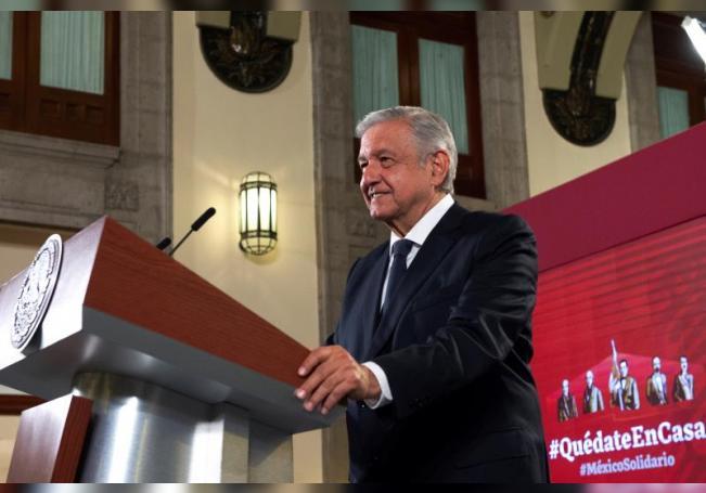 Fotografía cedida por la presidencia de México, del presidente Andrés Manuel López Obrador, durante una rueda de prensa en Palacio Nacional de Ciudad de México (México). EFE/Presidencia de México/SOLO USO EDITORIAL /NO VENTAS
