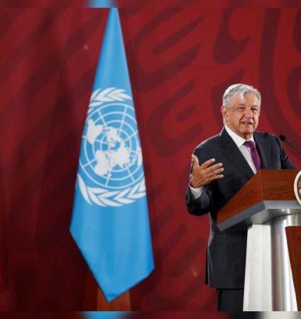 El presidente de México, Andrés Manuel López Obrador, en Palacio Nacional, en Ciudad de México (México). EFE/ José Méndez/Archivo