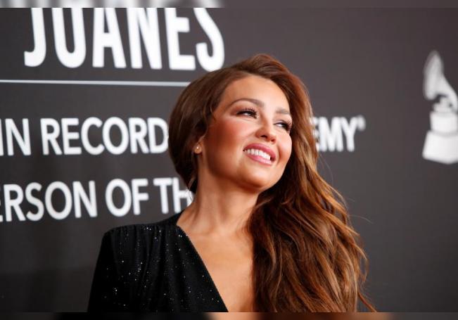 Mexican singer-songwriter Thalia. EFE/EPA/NINA PROMMER/File