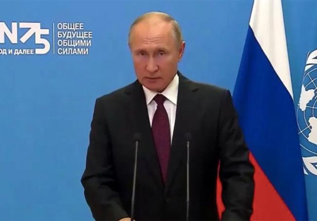 Vladimír Putin envia un mensaje.