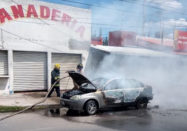 Las llamas fueron sofocadas por los bomberos.
