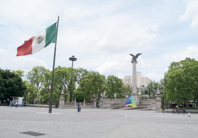 El perímetro de la Plaza de la Patria será cerrado también.