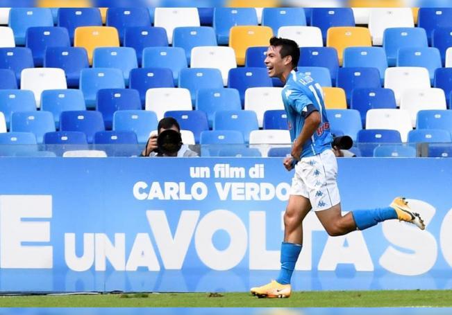 Lozano firma un doblete en la goleada del Nápoles al Atalanta