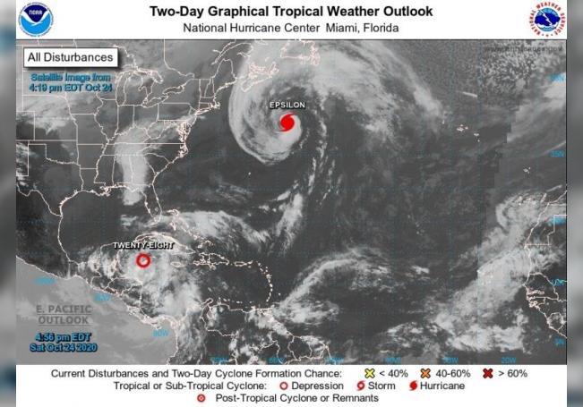 Zeta está cerca de ser huracán en su camino a la costa caribeña de México
