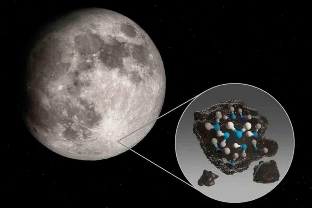 Dos recientes estudios confirmaron la presencia de agua molecular en la superficie de la Luna.
