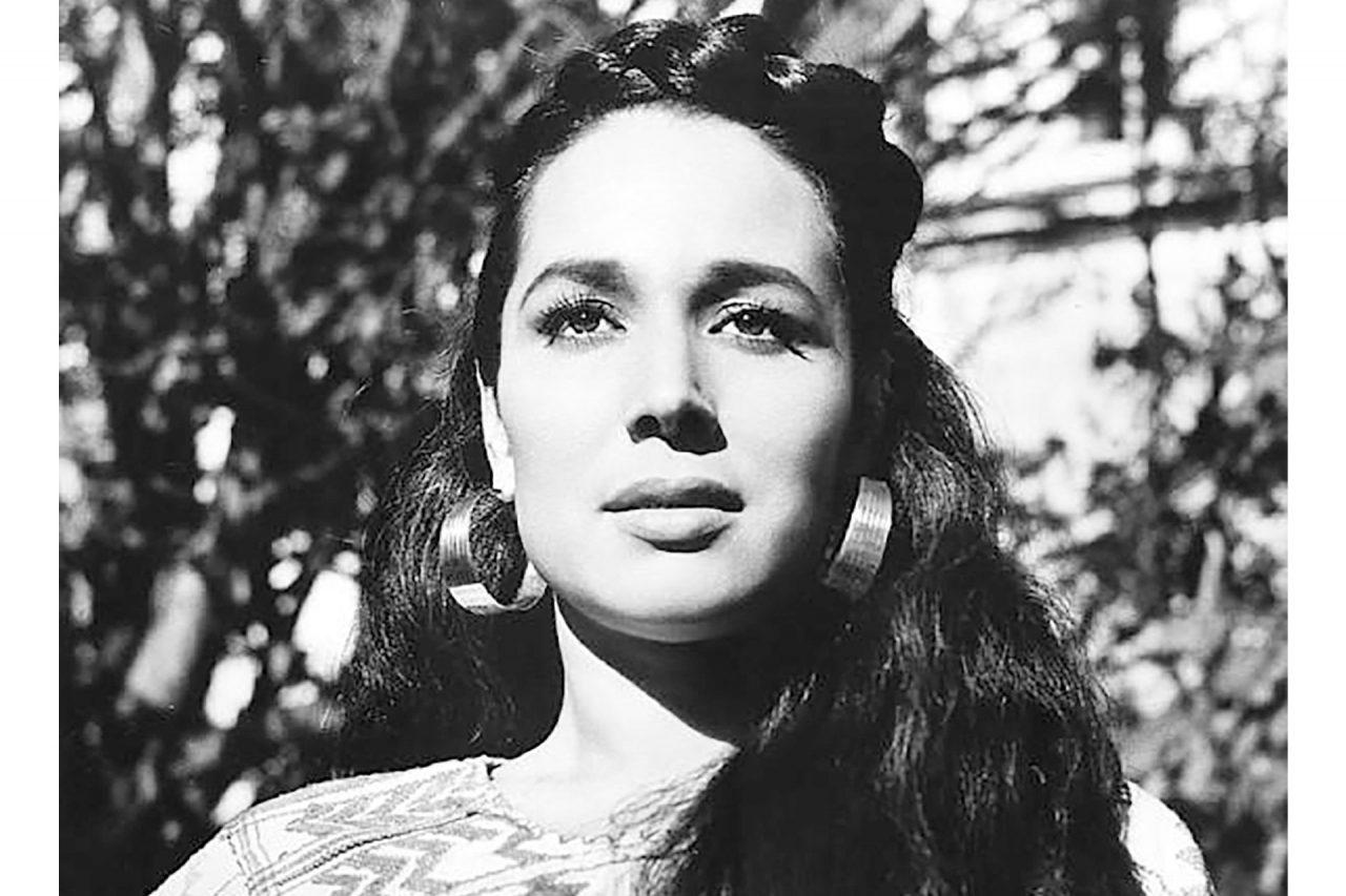La actriz Flor Silvestre en su juventud.