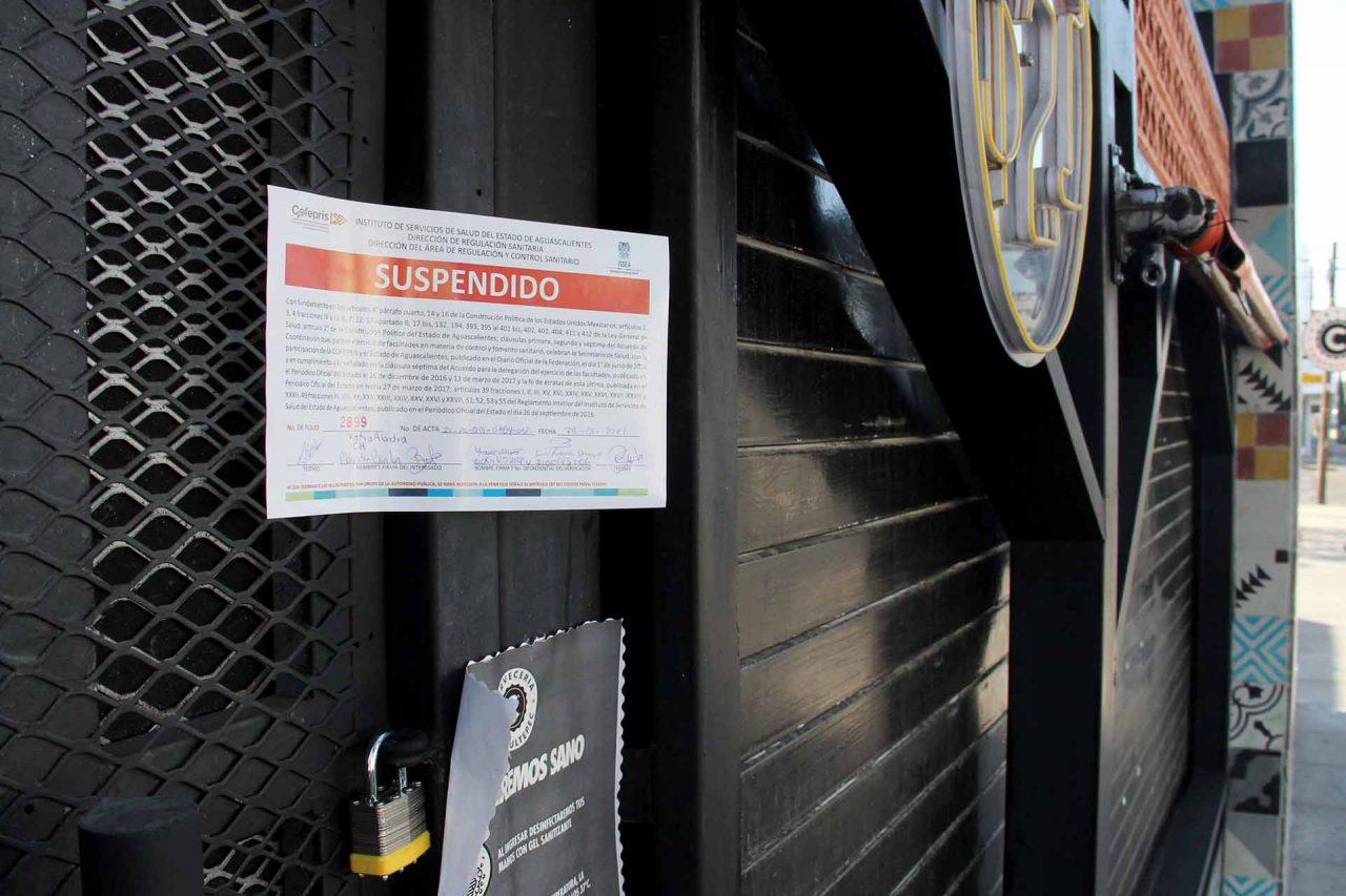 Un bar clausurado por no cumplir con las disposiciones del decreto