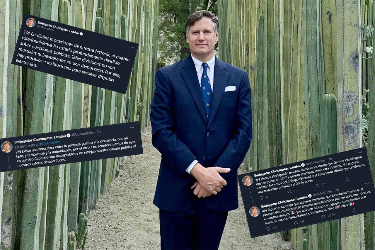 El embajador de Estados Unidos en México, Christopher Landau. (Foto: Twitter)
