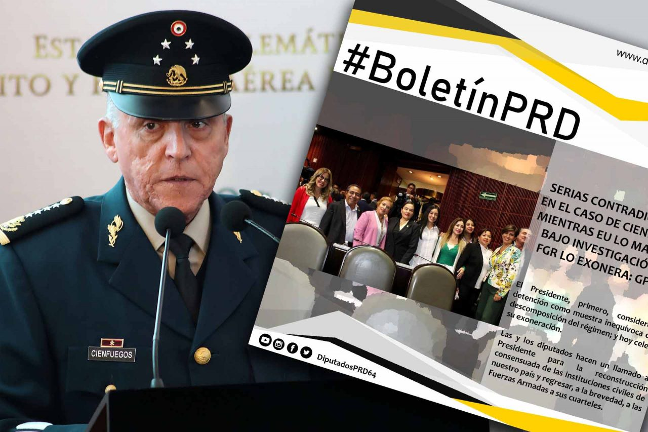 Boletín del PRD sobre el caso del general Salvador Cienfuegos