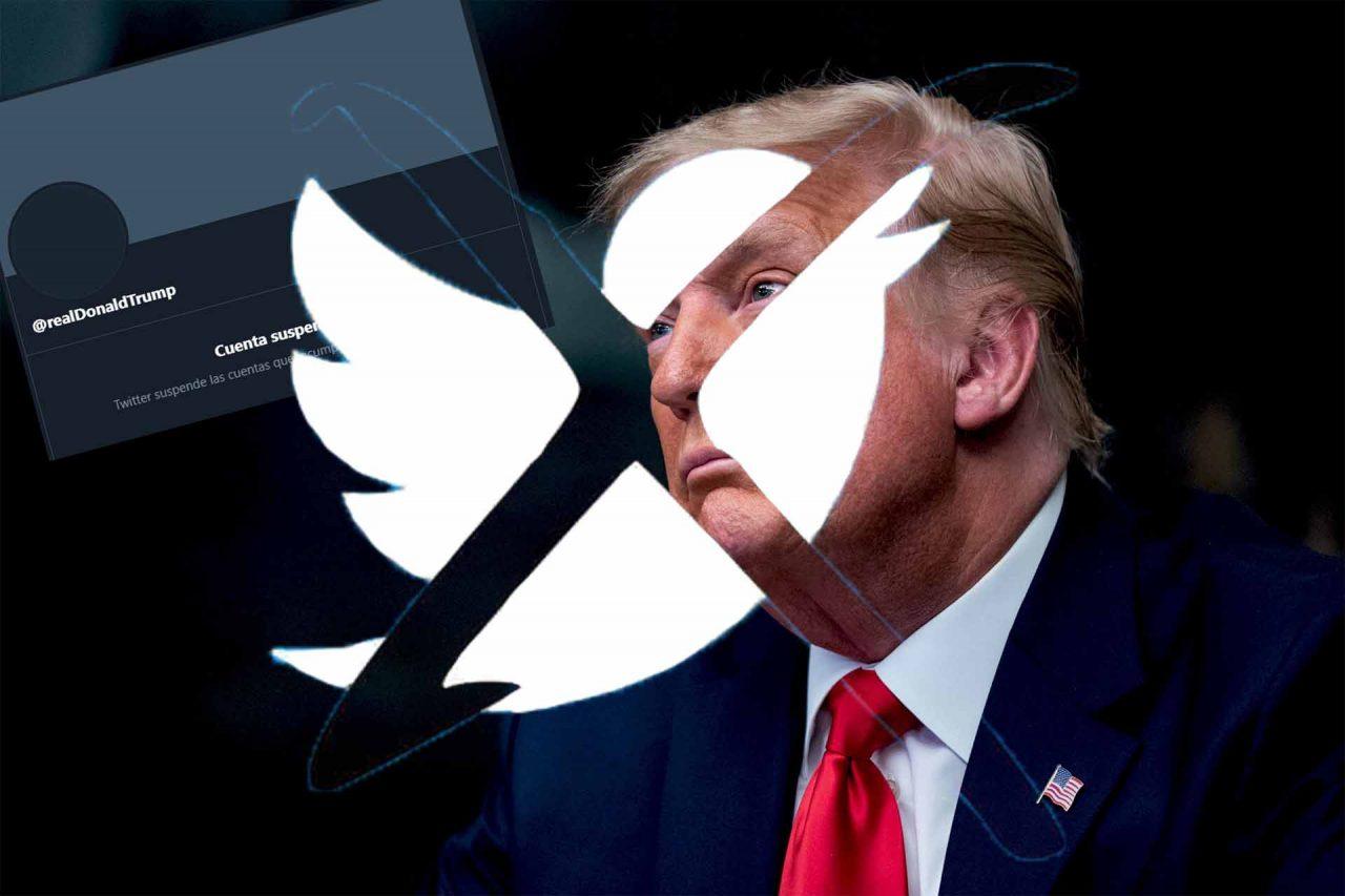 La cuenta @realDonaldTrump del presidente saliente de Estados Unidos, Donald Trump, fue suspendida este viernes de manera permanente