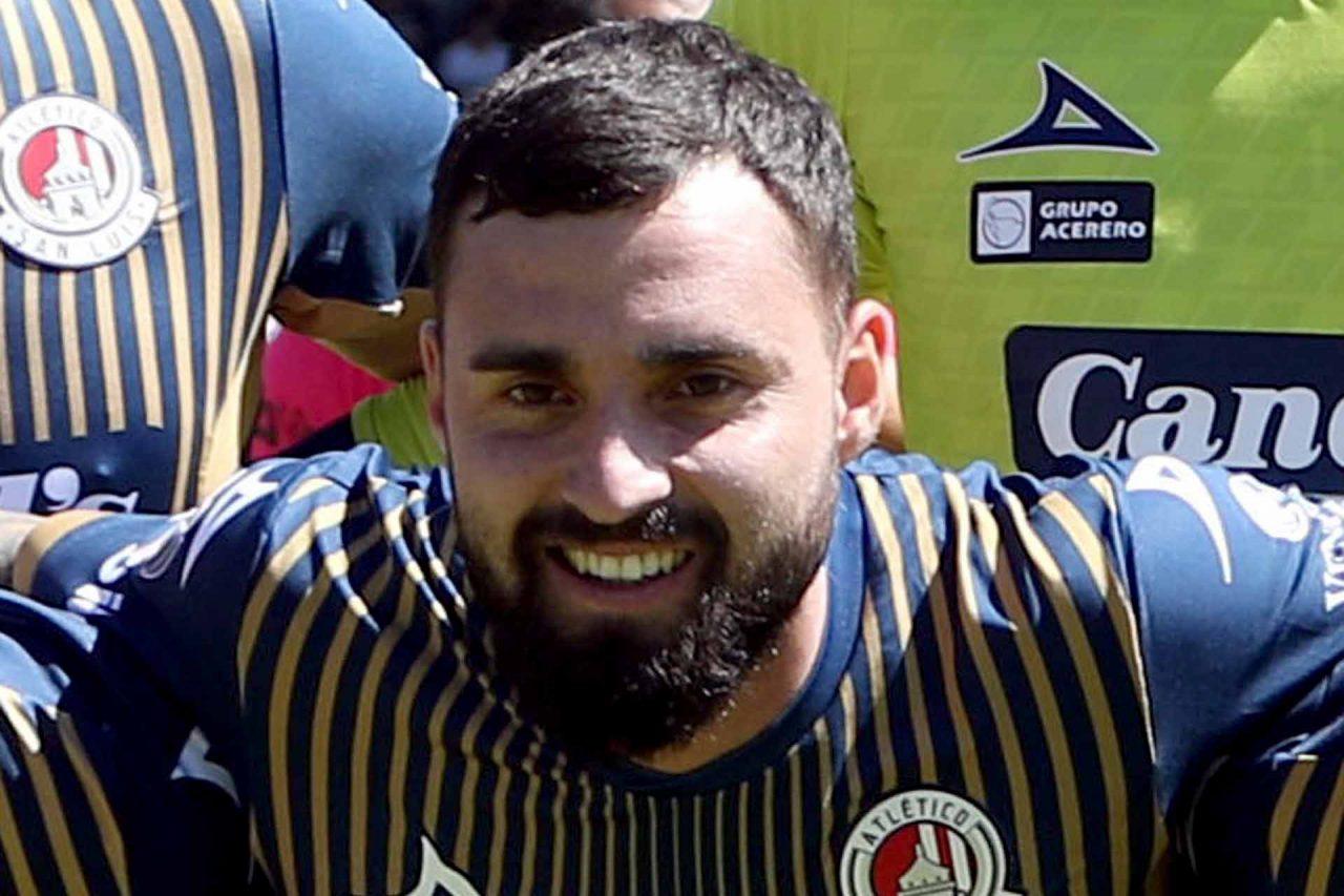 El jugador del Atlético San Luis, Felipe Gallegos