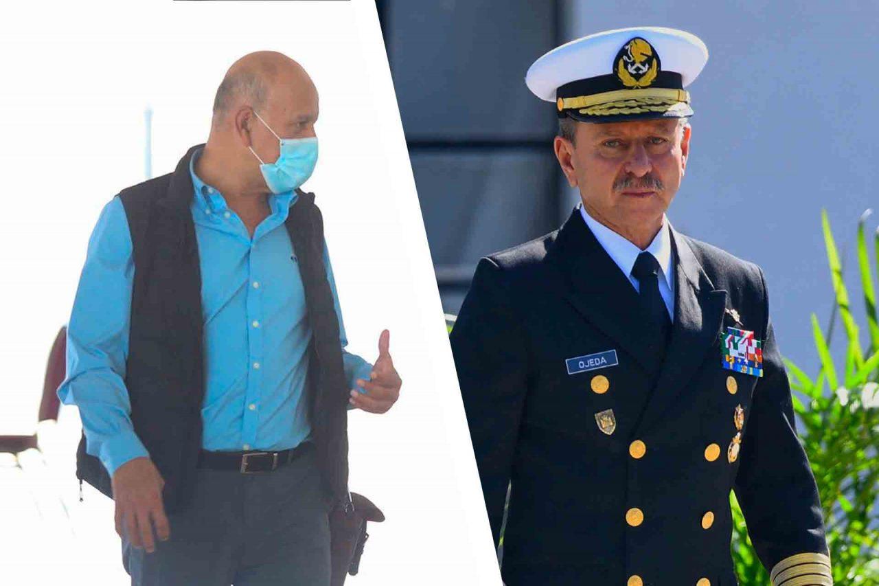 Titular del Insabi, Juan Antonio Ferrer y el Secretario de Marina, Almirante José Rafael Ojeda Durán.