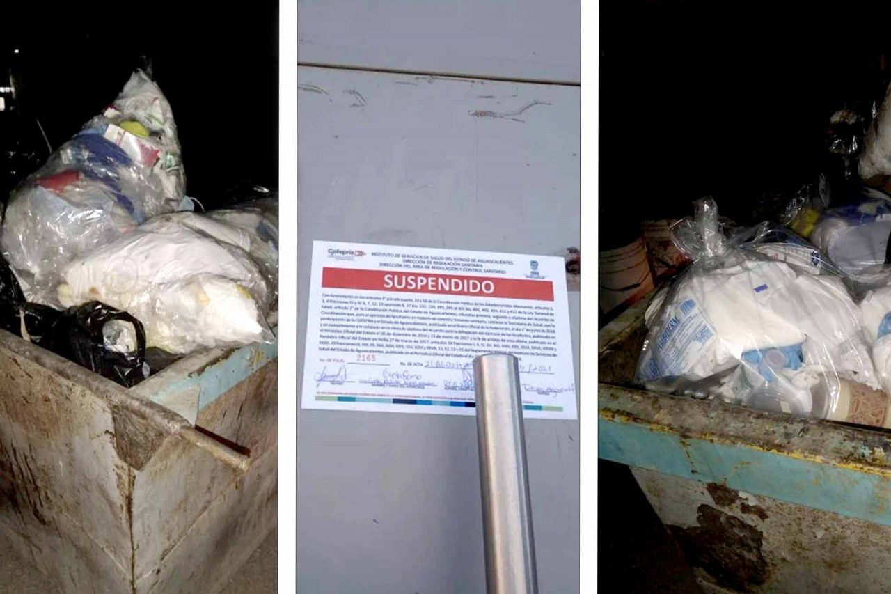 Hospital clausurado por el mal manejo de residuos peligrosos biológicos infecto-contagiosos