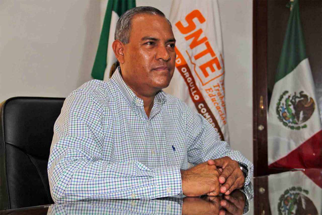 El secretario general de la Sección 1 del SNTE, Ramón García Alvizo.