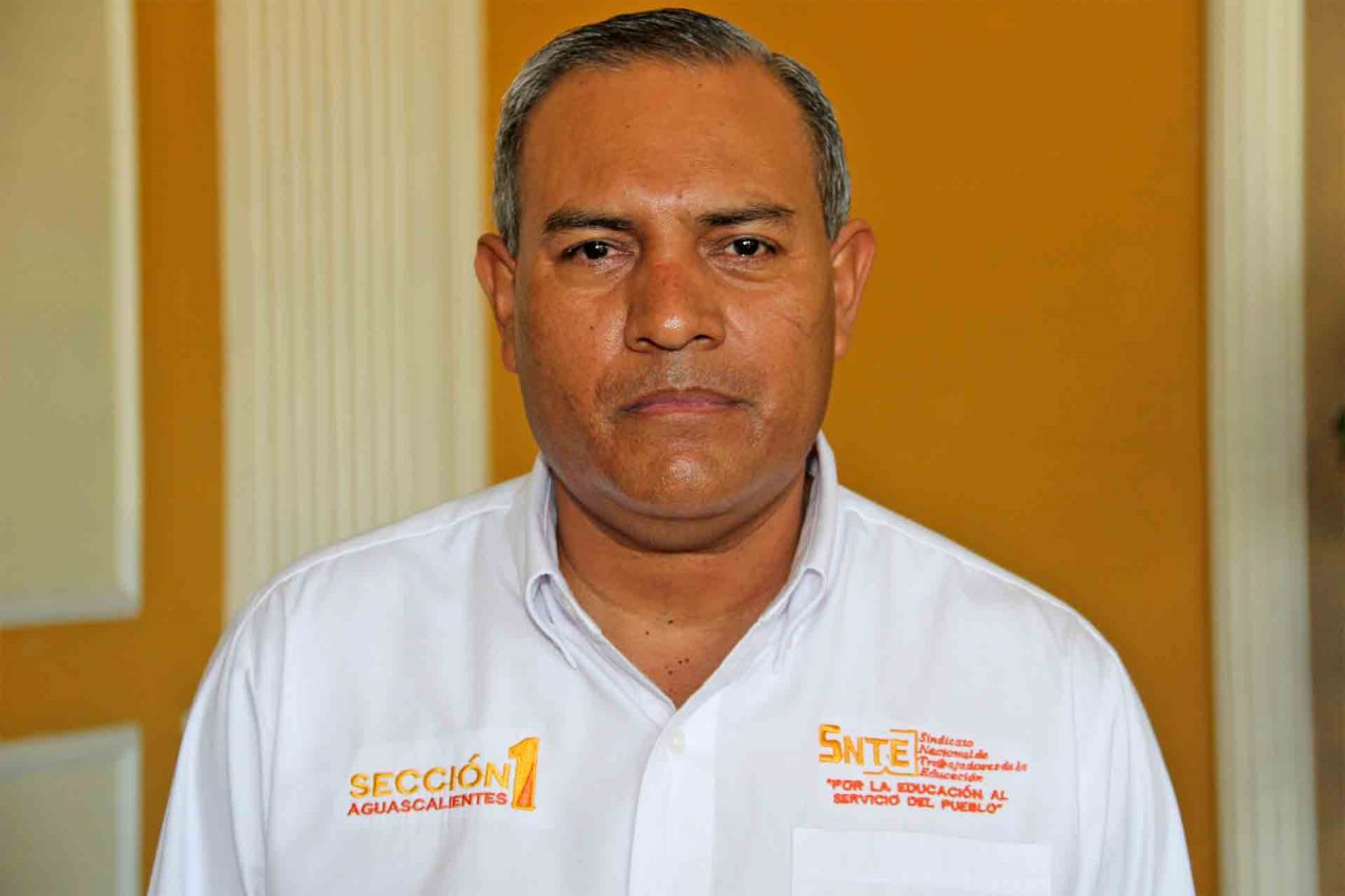 Ramón García Alvizo, dirigente de la Sección 1 del SNTE.